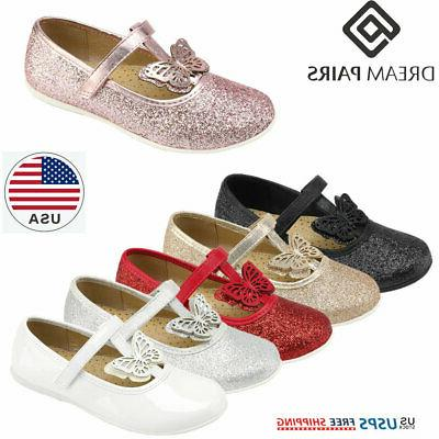 girls dress shoes kids princess flats school