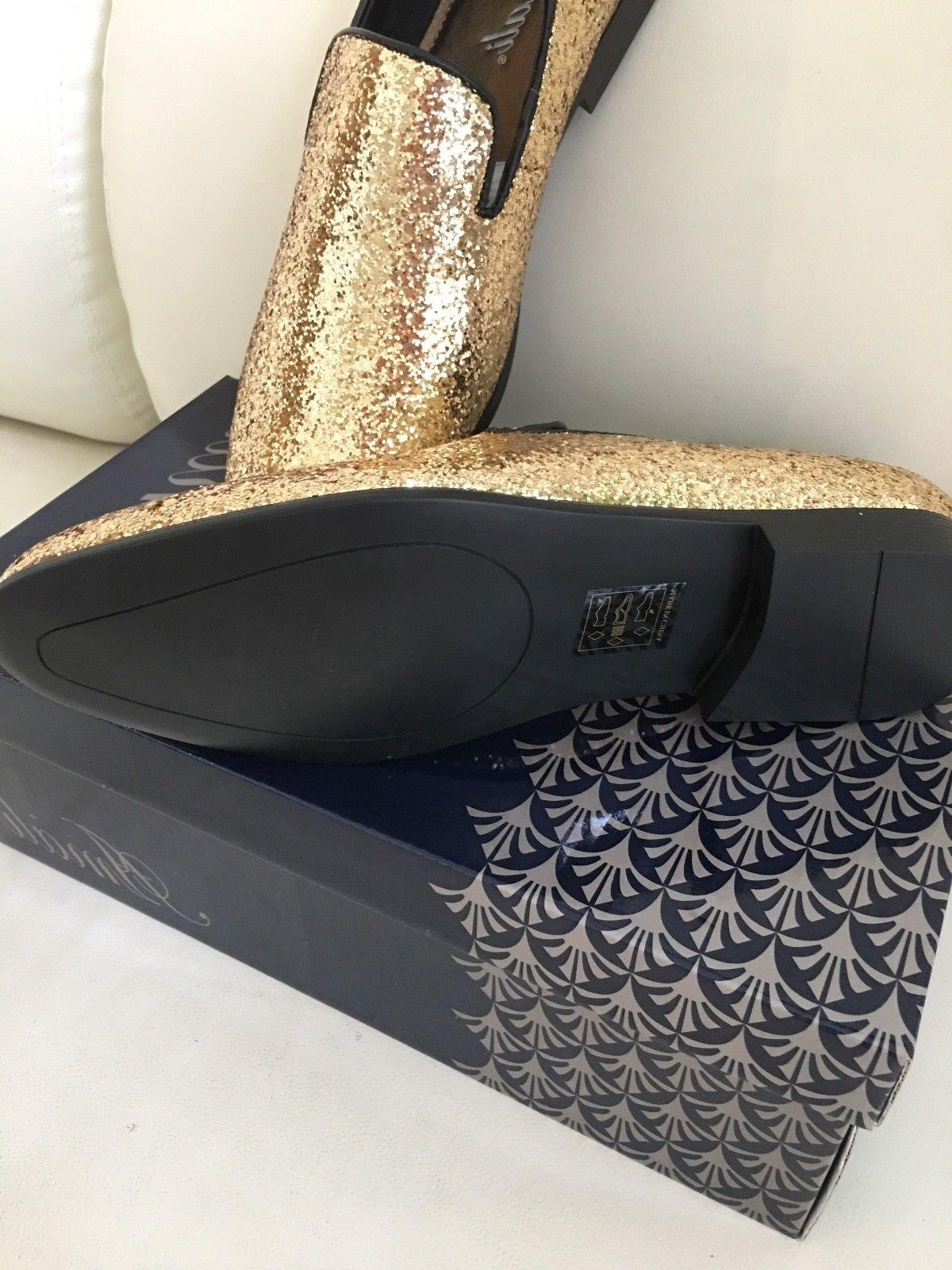 Amali Gold Mens Dress Loafer Slip On Wedding Tuxedo Fashionable