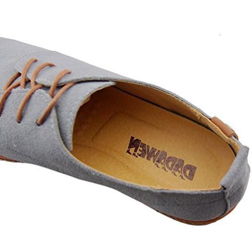Dadawen Men's Grey Leather Oxford - 11 D US