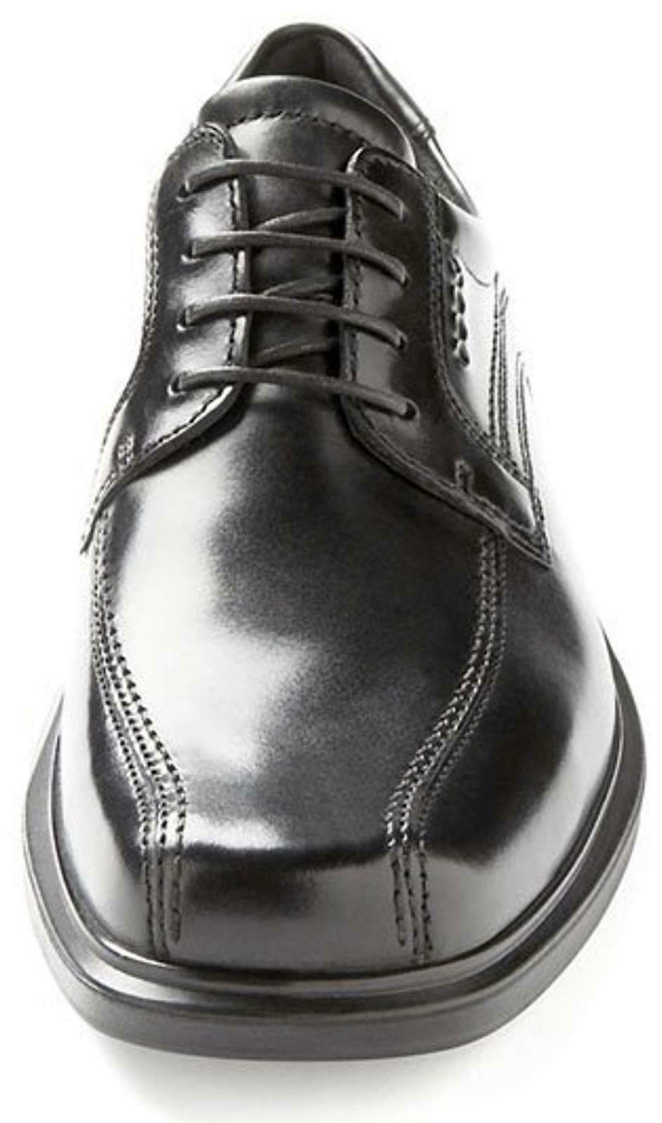 ECCO Mens Leather Black Oxford