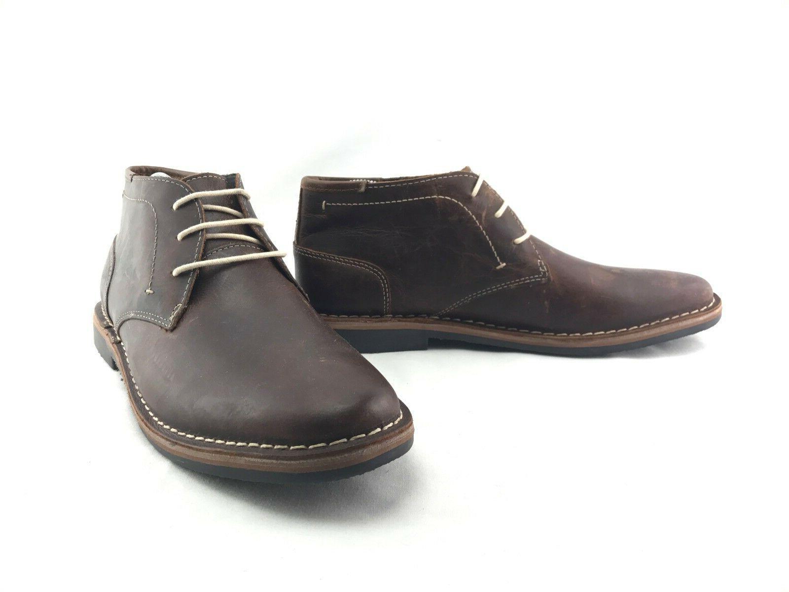 Steve Madden Hestonn Brown Leather Chukka US Shoes