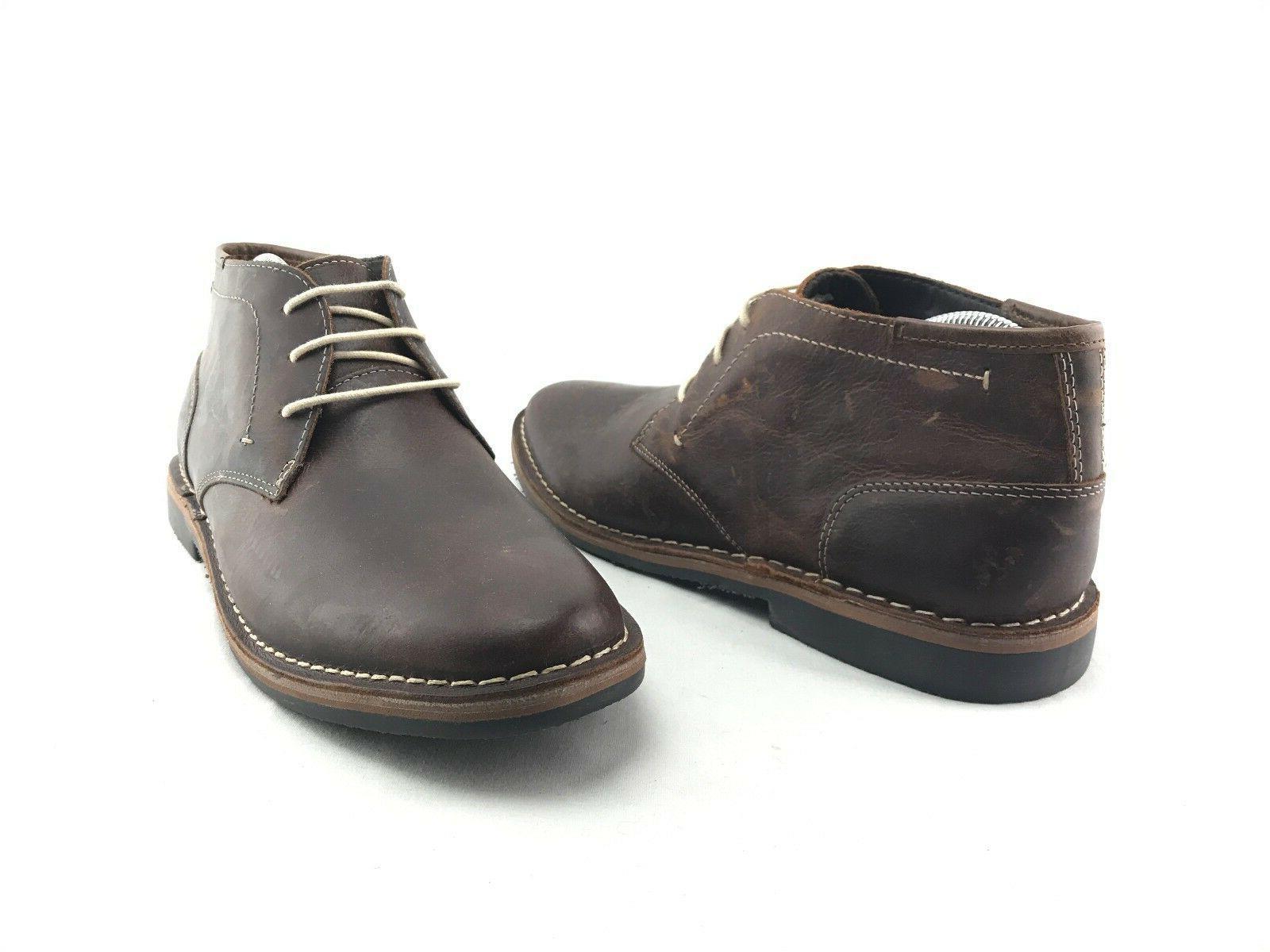 hestonn mens brown leather chukka boots us