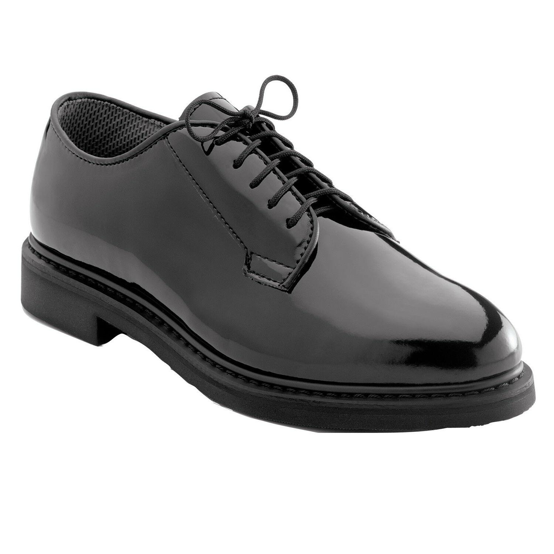 high gloss military uniform oxford dress shoes