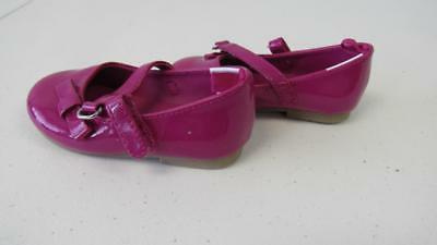 GYMBOREE Holiday Gems Bright Pink Dress Shoes w/Bows Size 4