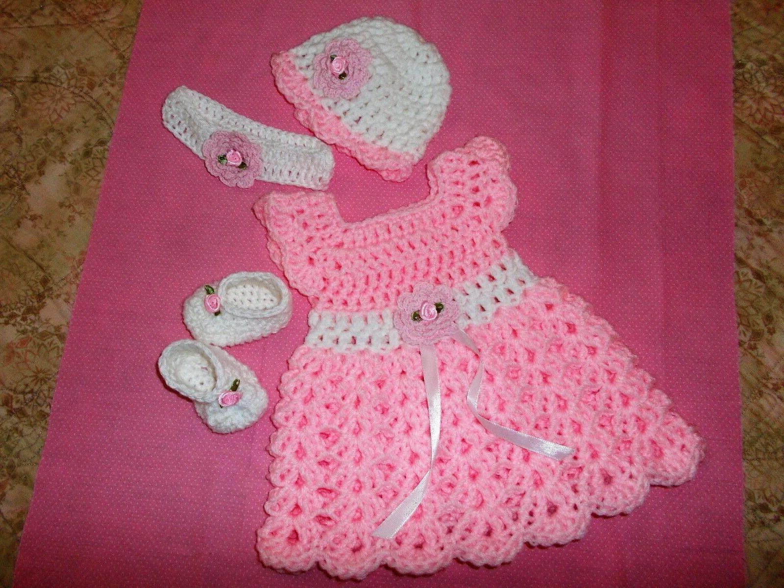 in usa crochet baby girl dress headband