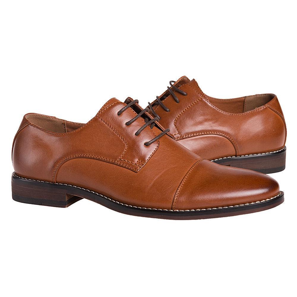 J's.o.l.e Men Dress Shoes Leather Lined Cap Toe Lace Up Oxfo