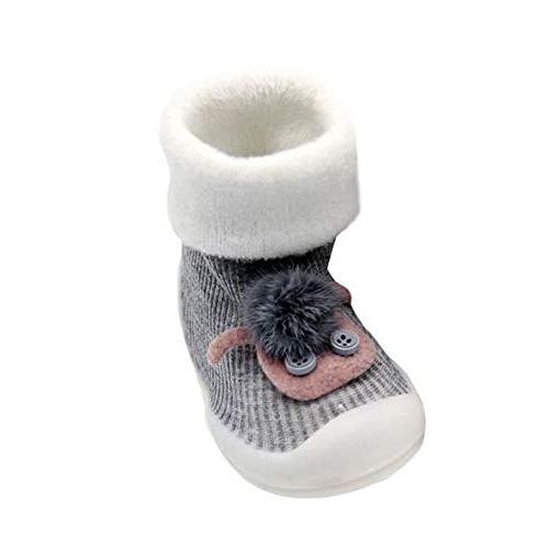 kids boy girl animal slippers soft warm