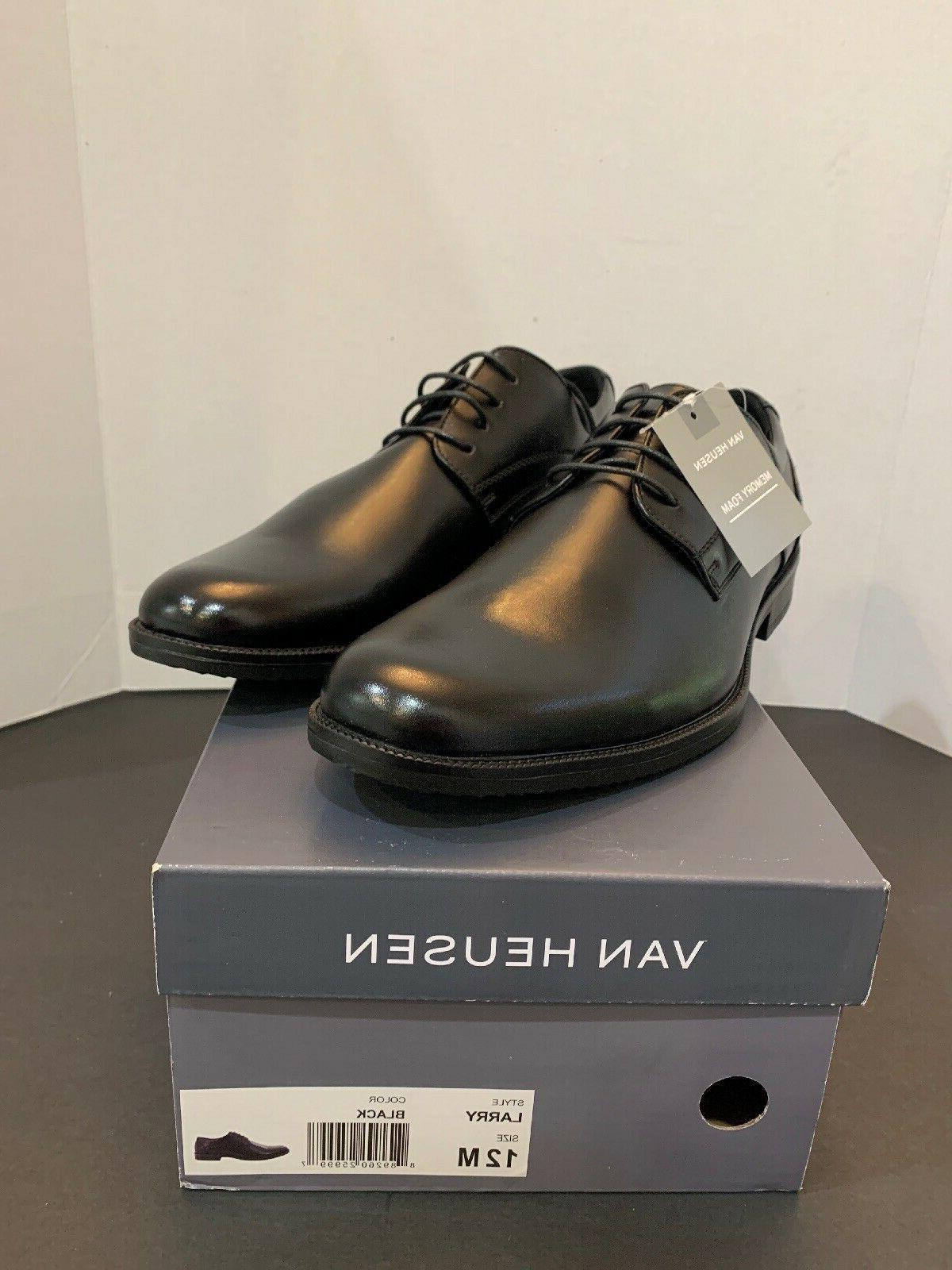 larry black men s dress shoes new