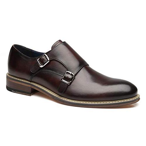 leather double monk strap oxford