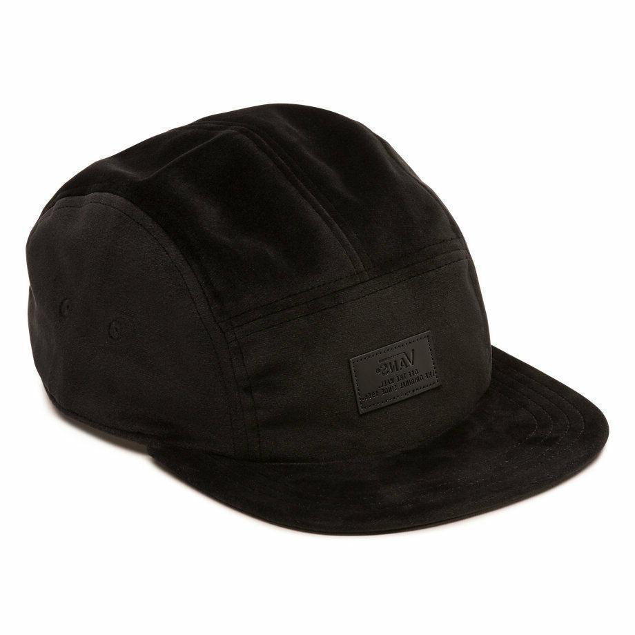 Vans LEWIS 5 Panel Camper  Mens Hat  Black Strapback Cap SOF