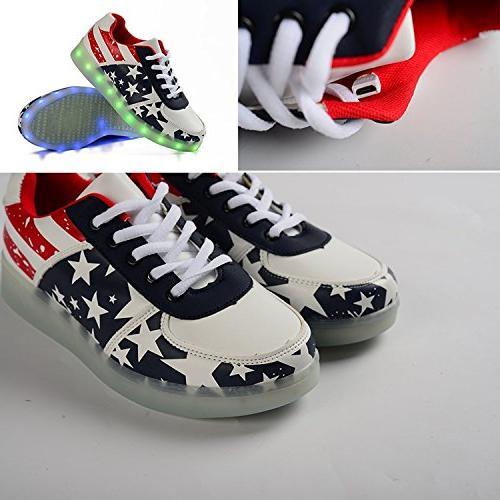 And Men Adults unisex USB Luminous Shoes US Women / D Men)