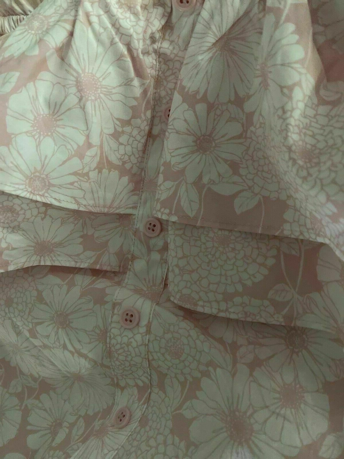 Lisa Fernandez Floral Shoulder Pink Size