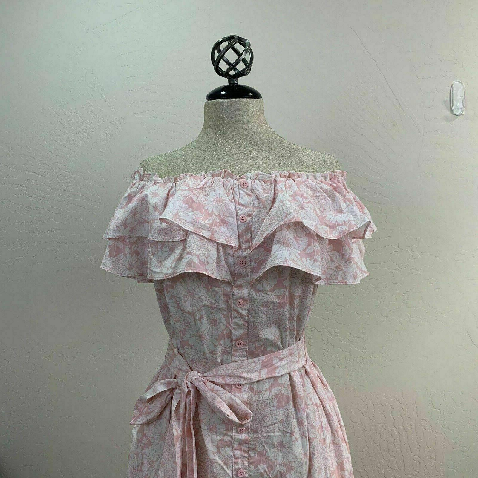 Lisa Marie Target Floral Print Shoulder Dress Choose Size