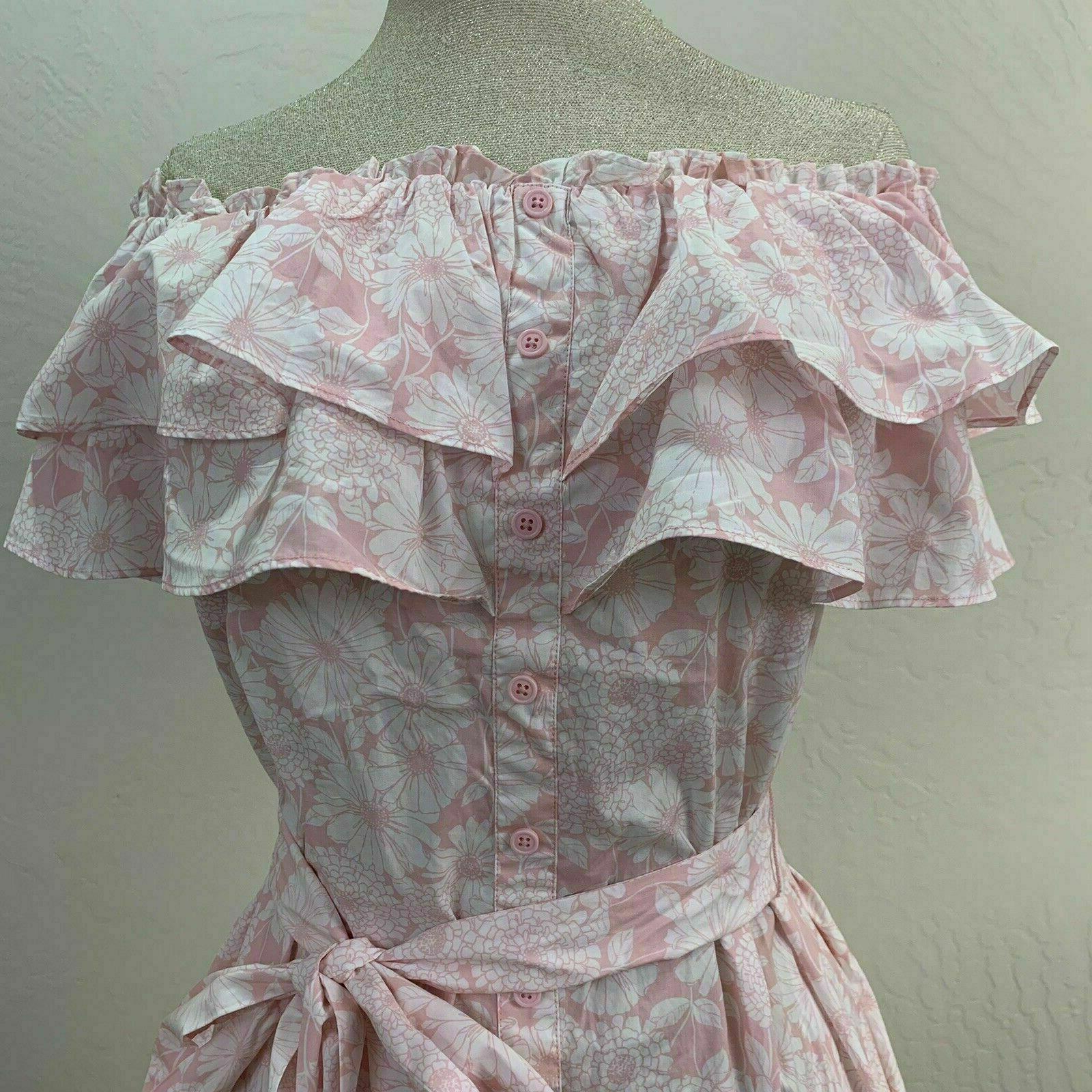 Lisa Marie Floral Shoulder Dress Size