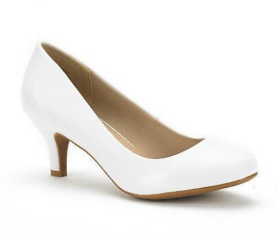 DREAM PAIRS Ladies Bridal On Wedding Party Heel Pumps