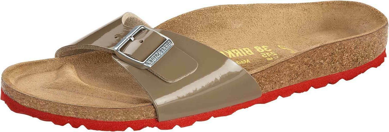 madrid birko flor lack womens shoes slides