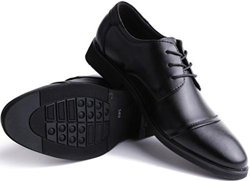 Marino for - Formal Leather Black Cap-Toe - 8