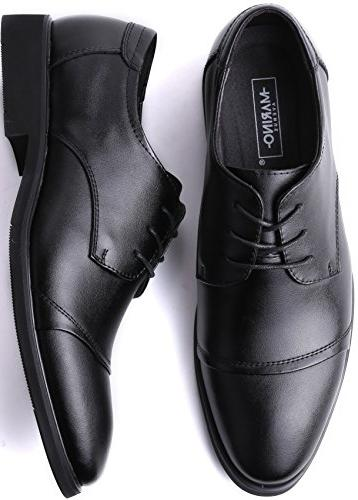 Marino Shoes for Formal Leather Mens Black 8 US