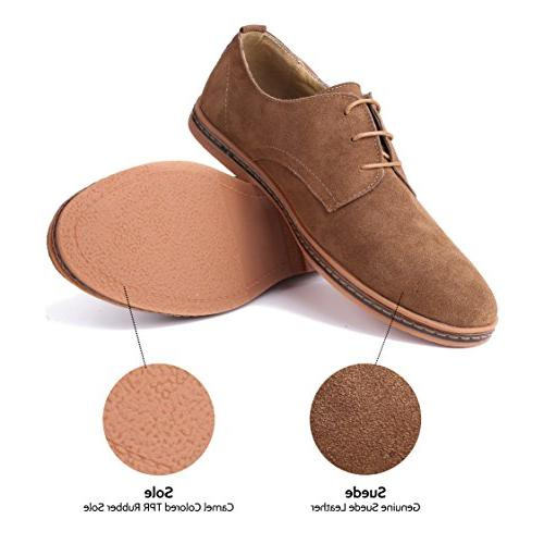 Marino Suede Dress Shoes for Men - Business Light Brown- US
