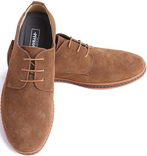 Marino Suede Shoes for Business Casual - Light Brown- 10.5 US