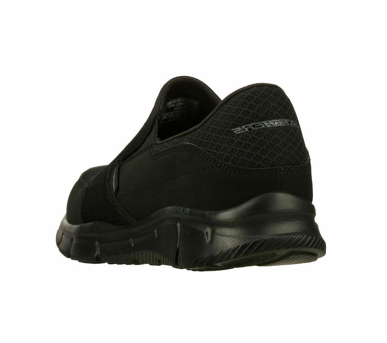 Memory Black Shoes Men's Slip Loafer