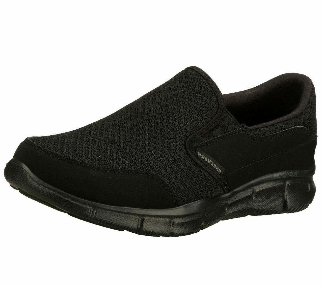 memory foam black shoes men s 51361