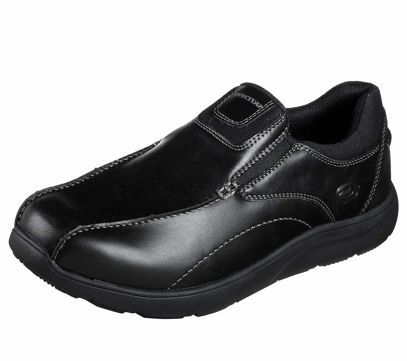 memory foam shoes black men s dress