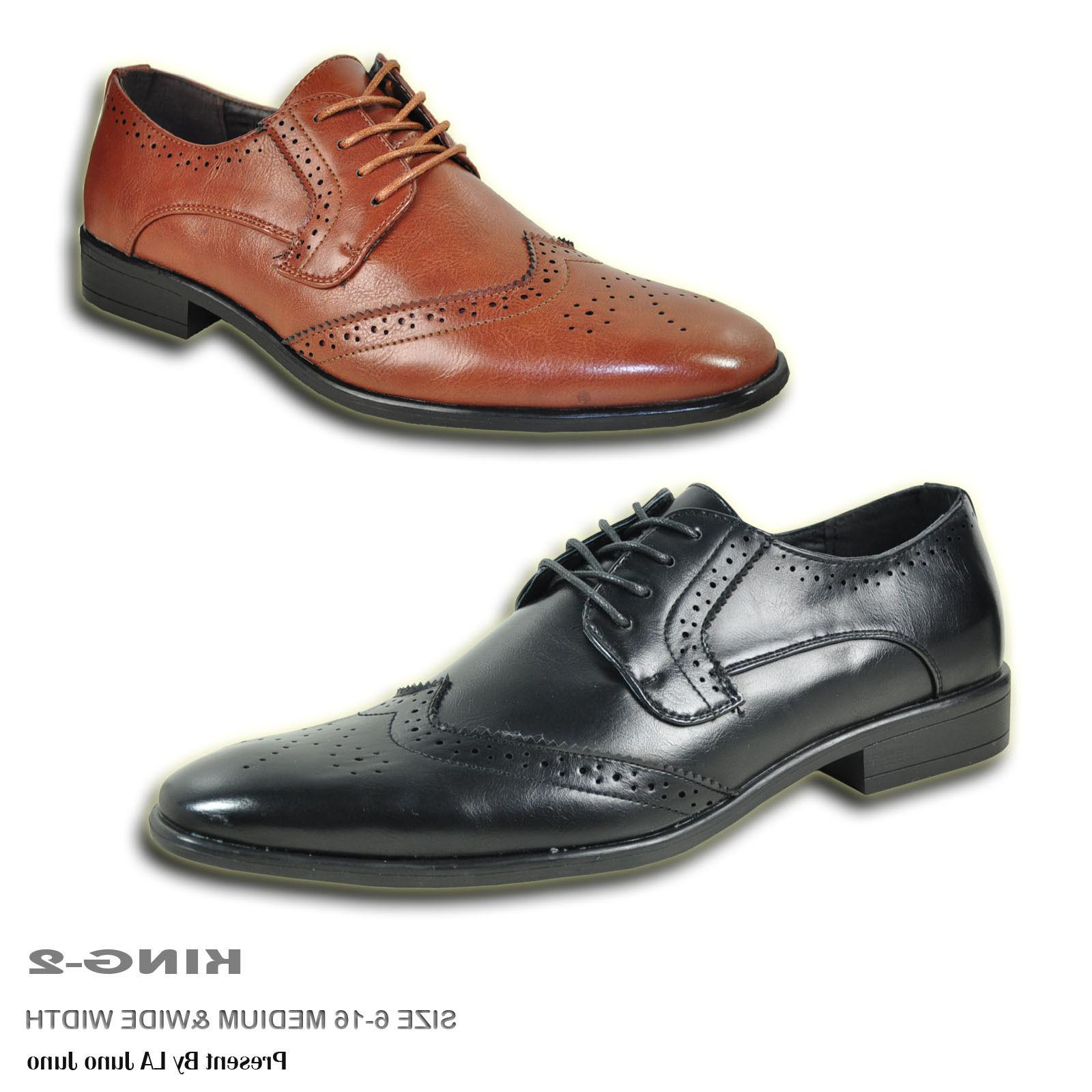 BRAVO Men Dress Shoe KING-2 Classic Oxford with Leather Lini