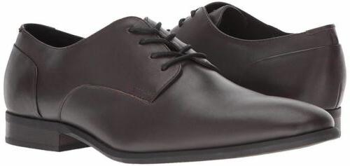 Men Dress Shoes Calvin Klein Casual Lucca Calf Dark Brown Le
