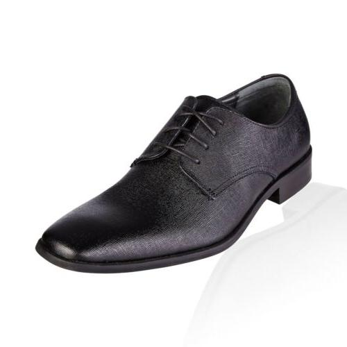 Men Dress Shoes Calvin Klein Gordan Lace Up Textured Calf Le