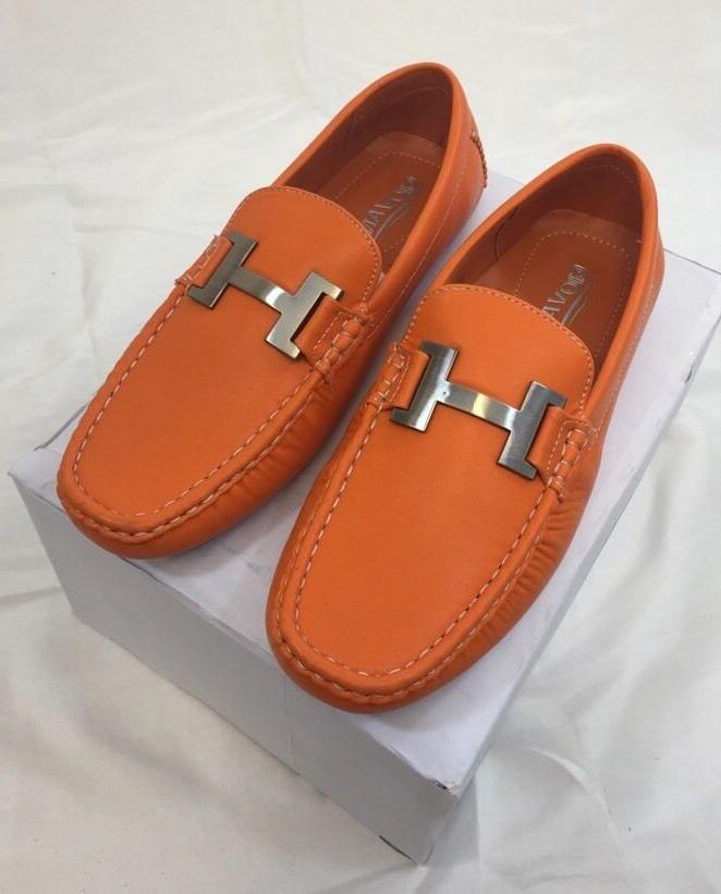 MEN GIOVANNI DRESS Loafer Italian Solid Orange