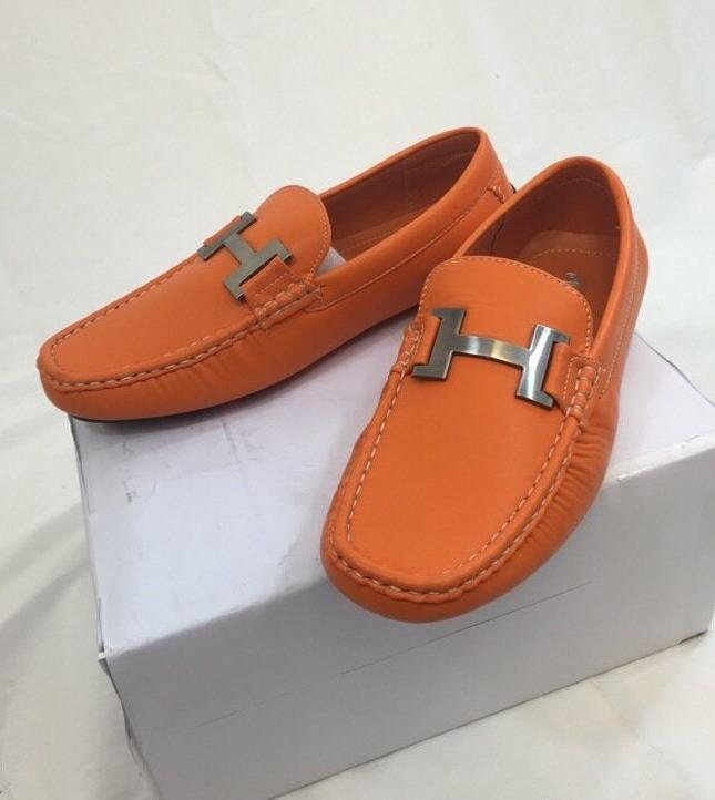 MEN Loafer Casual Italian Solid Orange