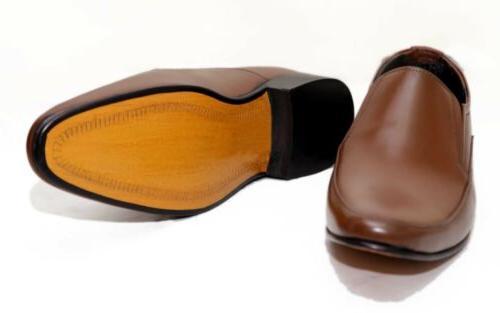 MEN GENUINE LEATHER COMFORTABLE BUSINESS DRESS SHOES
