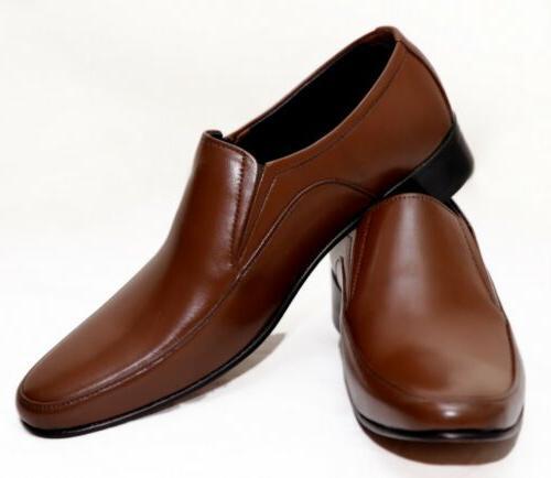 men genuine leather comfortable business dress slip