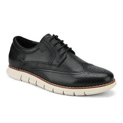 Bruno Marc Genuine Leather Oxford Casual Up Dress Shoes