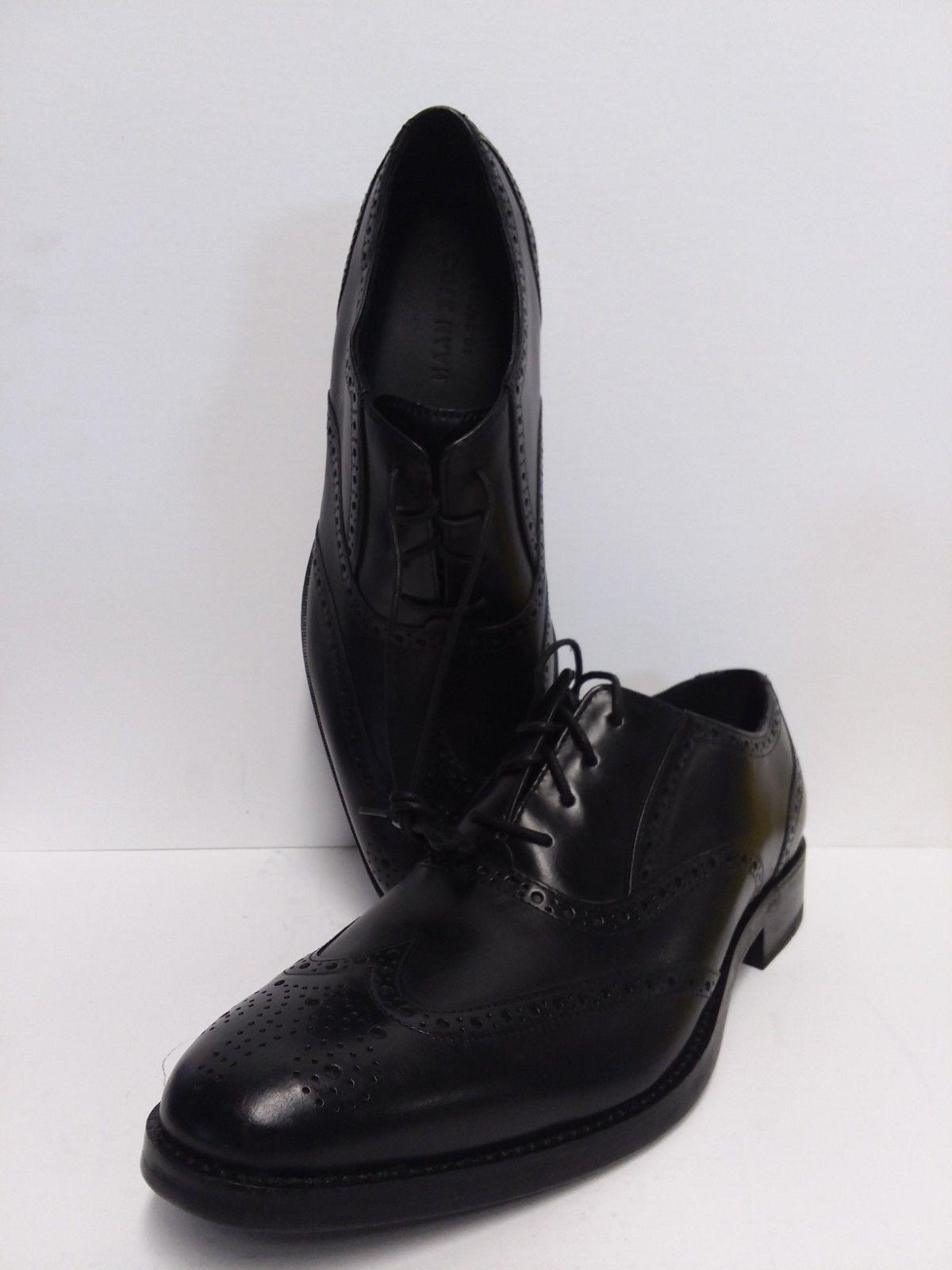COLE Men Black Wingtip Oxford Derby Size 10 M