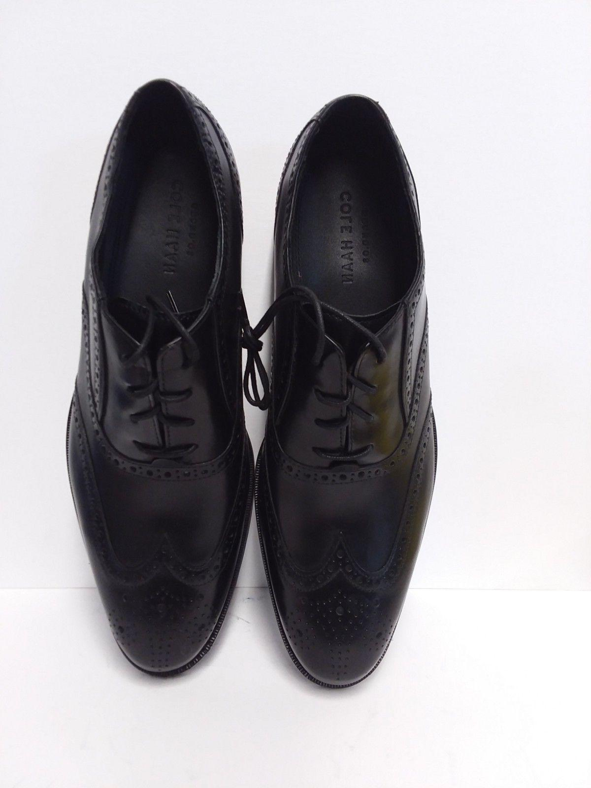 COLE Black Wingtip Lace Oxford Size