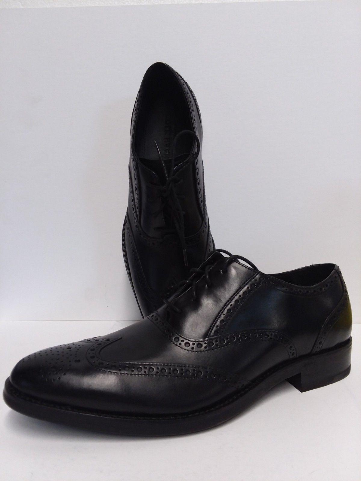 men madison black wingtip lace up oxford