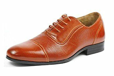 Men's Ferro Aldo 19339 Classic Cap Toe Lace Up Dual Texture