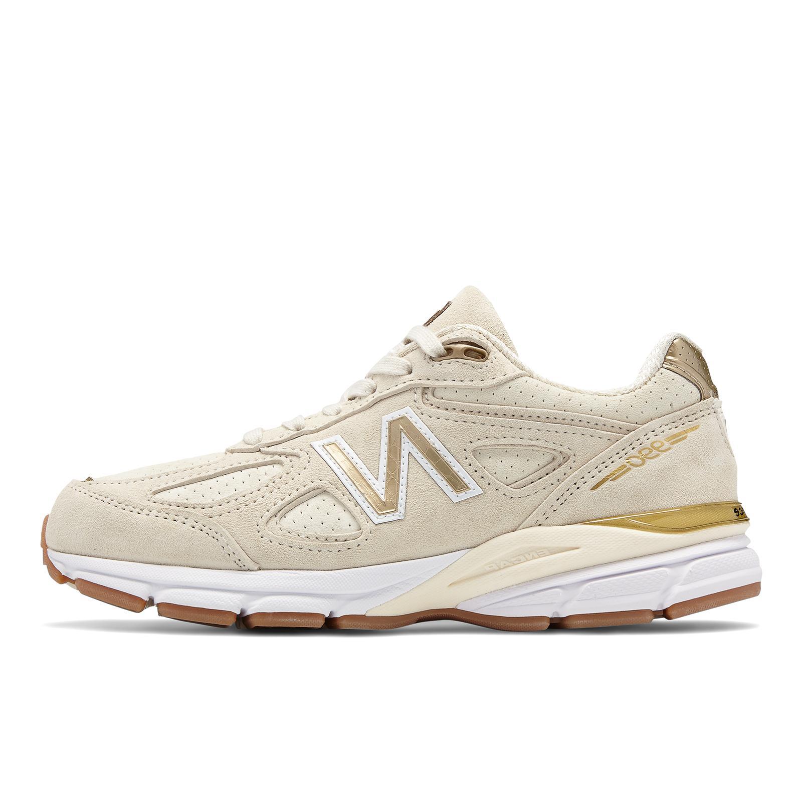 Men's New Balance 990 v4 Running Shoes Angora Sizes 8.5-14