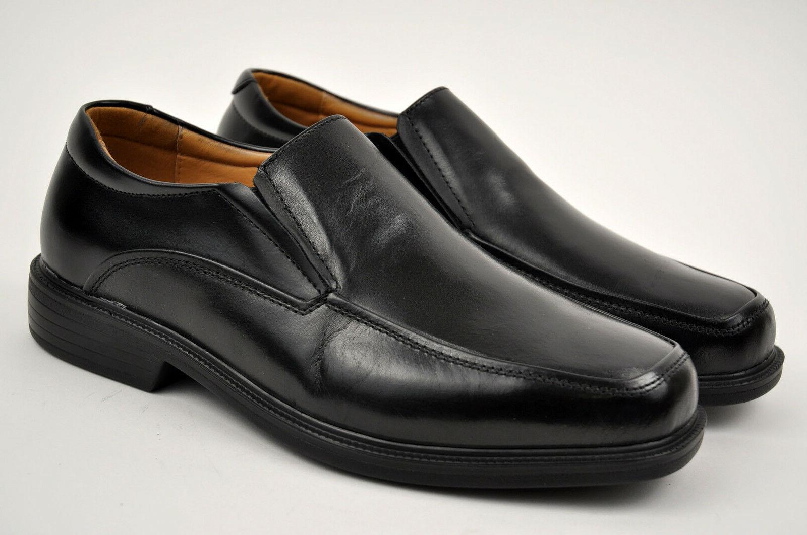 men s black genuine leather dress shoes