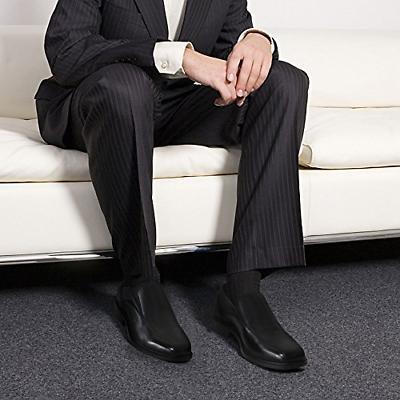 Men's Black Slip-On Loafer Classic Formal Shoes M US
