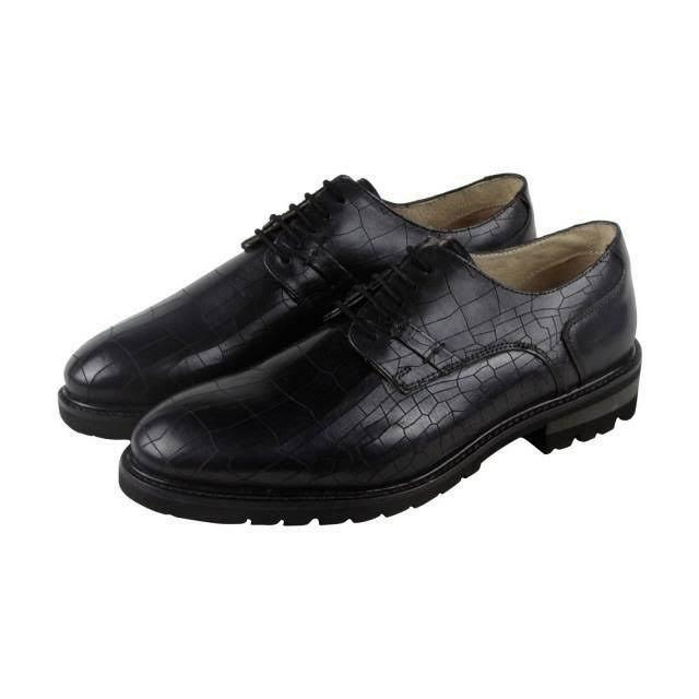 Men's GBX® Brenner Black Croc Print Dress Casual Shoes Medi