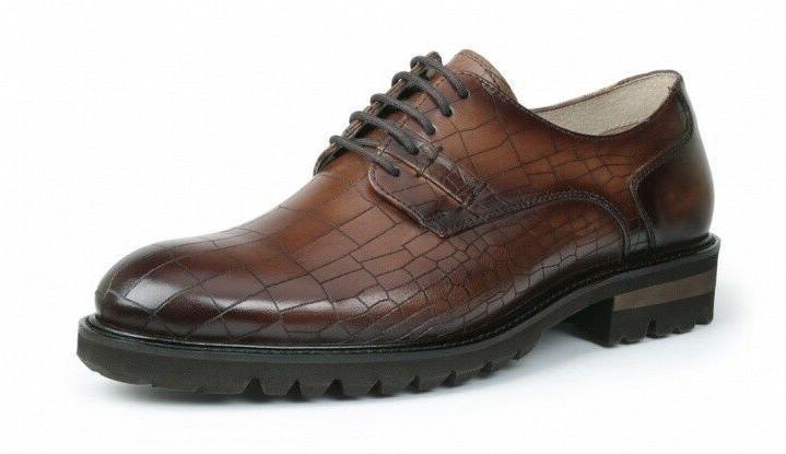Men's GBX® Brenner Tan Croc Print Dress Casual Shoes Medium