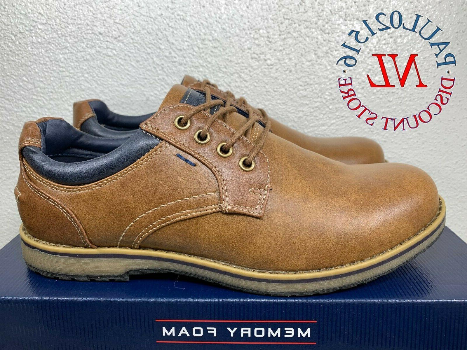 IZOD Men's Cal Memory Foam Casual Lace Up Shoes ~ Brown ~ Va