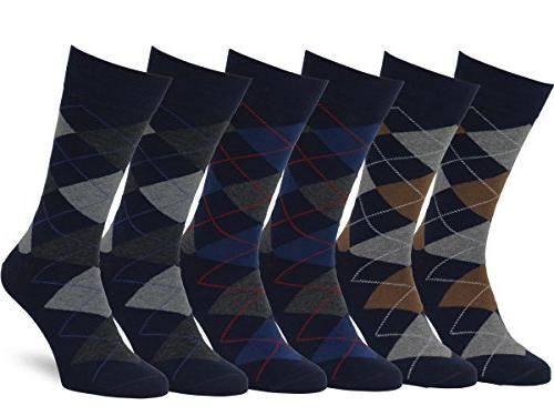 men s classic cotton argyle dress socks