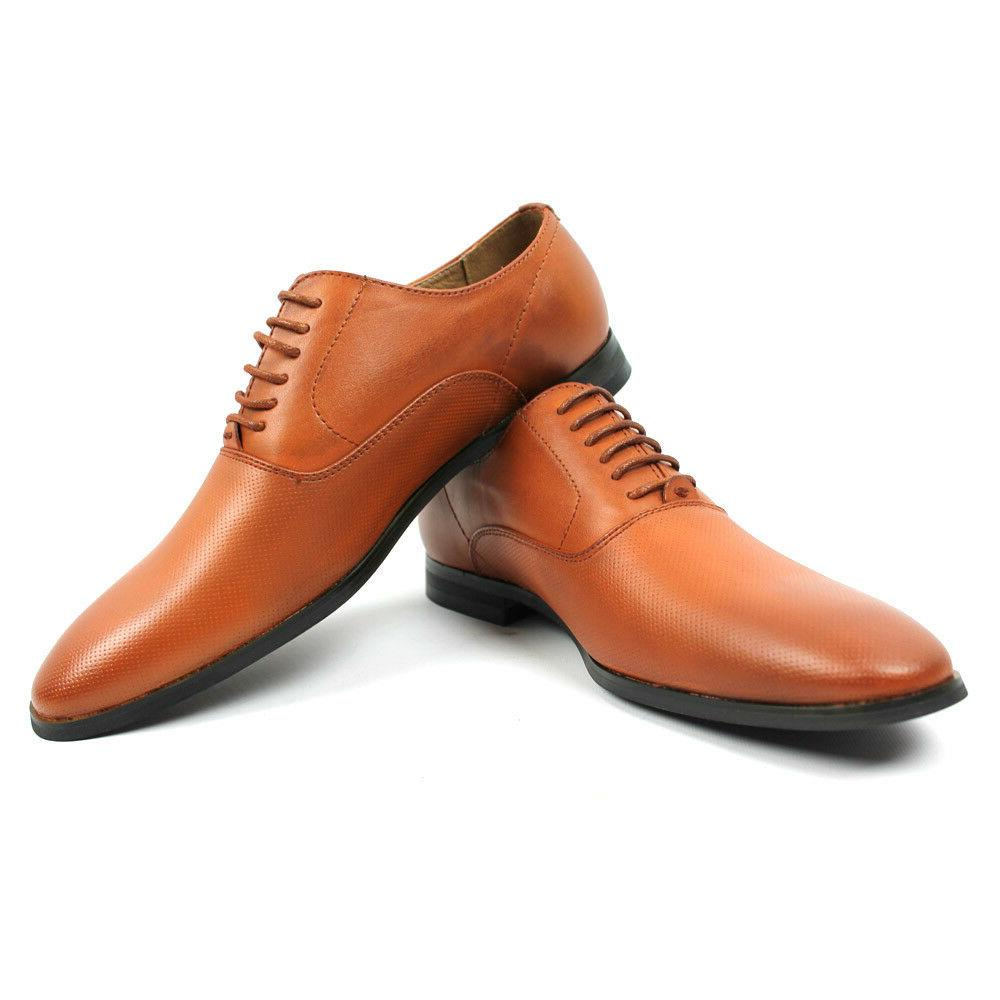 men s cognac brown round to lace