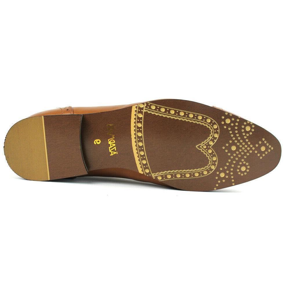 Men's Cognac Shoes CapToe Oxfords Leather Lining