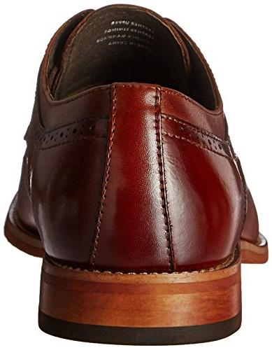 STACY ADAMS Dickinson Cap Oxford, Cognac, 12 W US