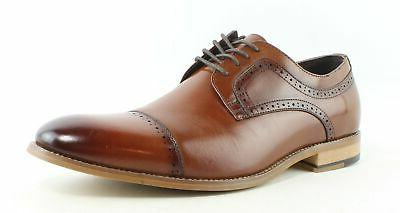 men s dickinson cap toe oxford cognac